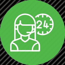 allday, care, customer, help, man, service, support icon