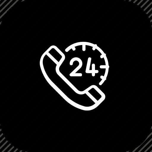 allday, care, customer, fullday, help, support, telephone icon
