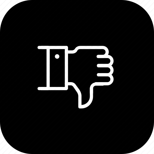 bad, dislike, feedback, review, service, thumbsdown icon
