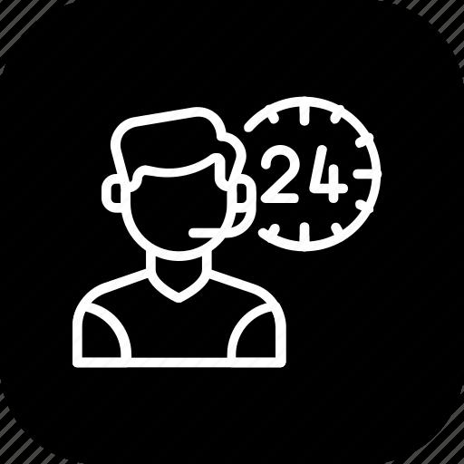 allday, customer care, help, male, representative, service, support icon