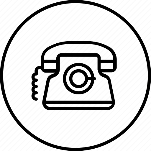 call, communication, landline, phone, telephone icon
