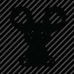 animal, big ears, cute, emojis, love, mouse, pet icon