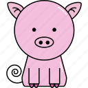 animal, cute, pig icon