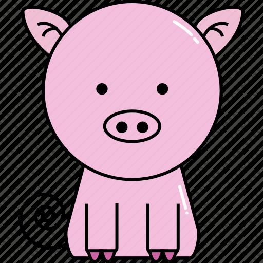animal, cute, pig icon