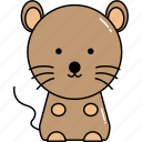 animal, cute, mice, mouse icon