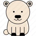 animal, bear, cute, polar icon