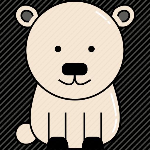 animal, bear, cute, polar icon