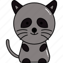 animal, cute, raccoon icon