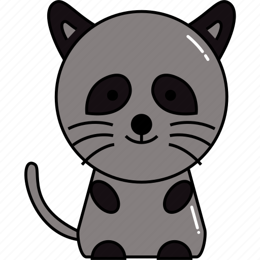 animal, cute, raccoon icon