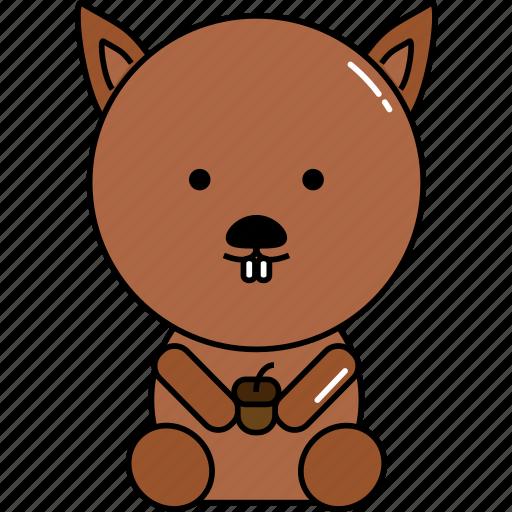 animal, cute, squirrel icon