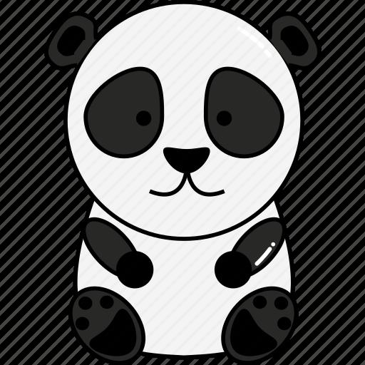 animal, cute, panda icon
