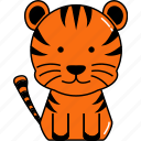 animal, cute, tiger icon
