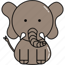 animal, cute, elephant icon