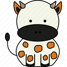 animal, cow, cute icon
