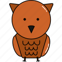animal, cute, owl icon