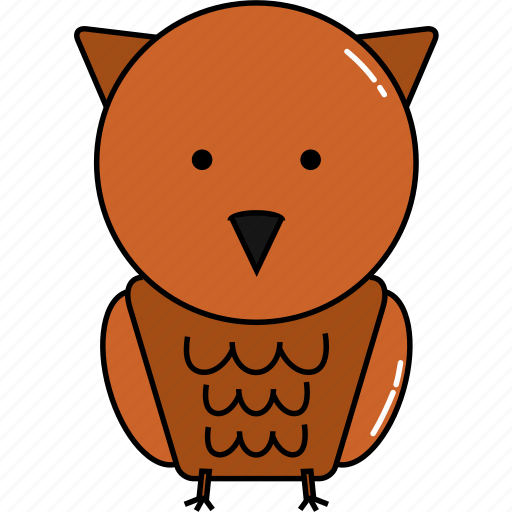 animal, cute, owl icon