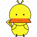 animal, cute, duck icon