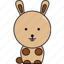 animal, cute, rabbit icon