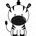 animal, cute, zebra icon