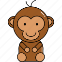 animal, cute, monkey icon