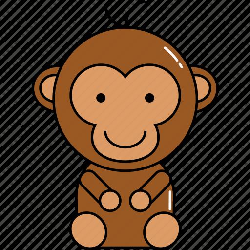 animal, cute, monkey icon