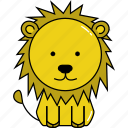 animal, cute, lion icon