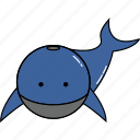 animal, cute, whale icon
