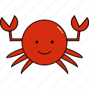 animal, crab, cute icon