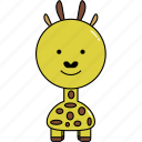 animal, cute, giraffe icon