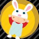 baby, child, children, cute, newborn, rabbit icon