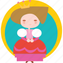 baby, child, children, cute, newborn, princess icon