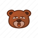 bear, cute, emoticon, perfert icon