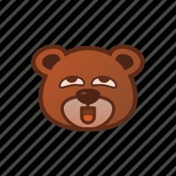 bear, cute, emoticon, perfert icon