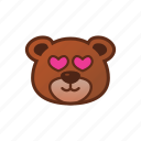 bear, cute, emoticon, love icon