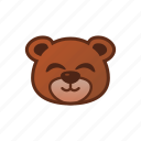bear, cute, emoticon, smile icon