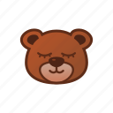 bear, cute, emoticon, sleepy, smile icon