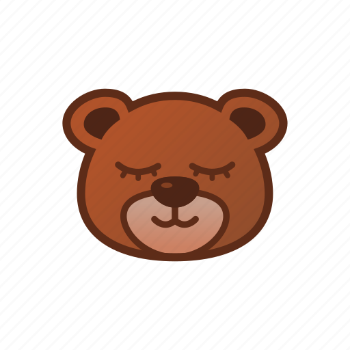 Bear, cute, emoticon, sleepy, smile icon - Download on Iconfinder