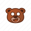 awkward, bear, cute, emoticon icon