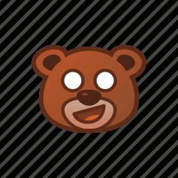 awkward, bear, cute, emoticon icon