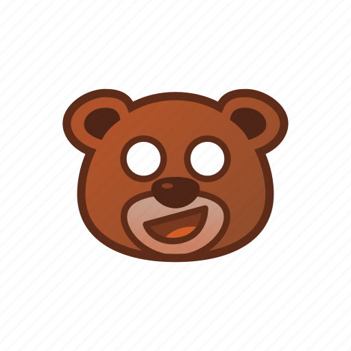 Awkward, bear, cute, emoticon icon - Download on Iconfinder