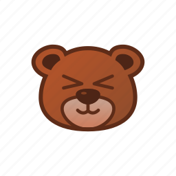 bear, cute, emoticon, shy icon