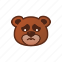 bear, cry, cute, emoticon, sad icon