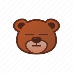 bear, cute, emoticon, no expression icon
