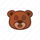 bear, confuse, cute, emoticon icon
