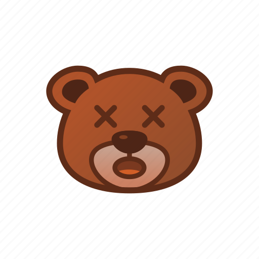 Amazed, bear, cute, emoticon, shock icon - Download on Iconfinder