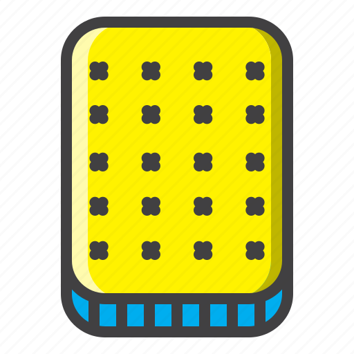 bed, bedroom, filled, hotel, sleep icon