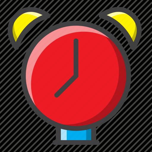 alarm clock, bedroom, filled, furniture, interior icon