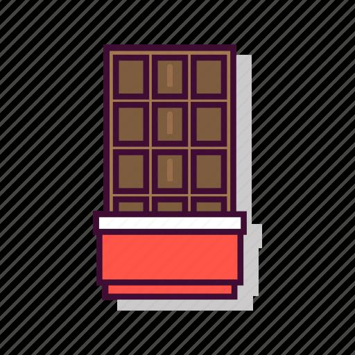 brown, chocolate, dark, dessert, emoji, expression, sweet icon