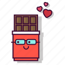 chocolate, dark, dessert, emoji, expression, sweet, valentine icon