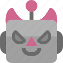avatar, cute, devil, emoji, emoticon, machine, robot icon